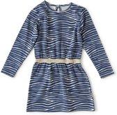 Little Label Meisjes Jurk - blauw - Maat 122-128