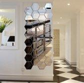 Spiegel Sticker Set - Wandspiegel - Waterproof Badkamer - 16 cm x 18 cm - Zilverkleurig  - 7 Stuks