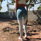 Yoga pants - Naadloze leggins - Groen | Hoge Taille | Fitness | Voor vrouwen | Loungewear yoga Pants NewAgeDevi | Fitness | Yoga | Workout | Yoga Broek |