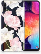 TPU Siliconen Backcase Samsung Galaxy A50 Design Lovely Flowers