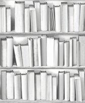 Dutch Wallcoverings vliesbehang boekenkast - grijs