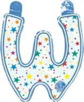 opblaasbare letter W multi color
