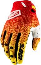 100% Ridefit fietshandschoenen geel/rood Handschoenmaat S