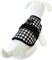 Hondenjas avant garde sherlock zwart / wit 20-25 cm