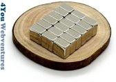 100 Vierkante neodymium magneetjes - 5 x 5 x 3 mm - neodymium magneet - koelkast - whiteboard - 4You Webventures