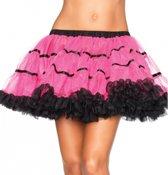 Leg Avenue luxe petticoat/tutu fuchsia met zwart