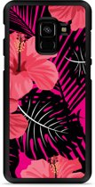 Galaxy A8 2018 Hardcase Hoesje Tropical Flowers