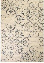 Vloerkleed modern bloem ontwerp 140x200 cm beige/blauw