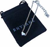 Zilverkleurig armbandje met hart bedel 15 cm + 5 cm verstelbaar - Rhylane