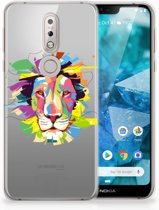 Nokia 7.1 Uniek TPU Hoesje Lion Color