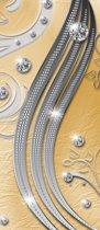 Deursticker Muursticker Modern  | Zilver, Geel | 91x211cm