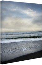 Strand Californie Amerika Canvas 60x80 cm - Foto print op Canvas schilderij (Wanddecoratie woonkamer / slaapkamer)