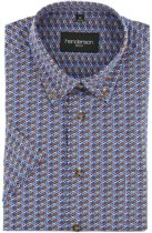 Gcm Henderson regular fit overhemd korte mouw blue-orange, maat XXL