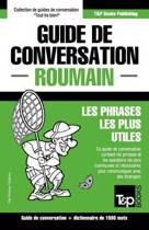 Guide de Conversation Fran ais-Roumain Et Dictionnaire Concis de 1500 Mots