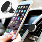 Universele magneet telefoonhouder voor in de auto -  Autohouder - Zilver - Inclusief magneet plaatje / sticker - GMS auto houder