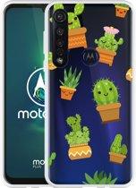 Motorola Moto G8 Plus Hoesje Happy Cactus