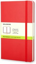 Moleskine Classic Notebook - Large - Plain - Hard Cover - Scarlet Red