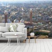 Fotobehang vinyl - Zonnige dag in Karachi breedte 350 cm x hoogte 260 cm - Foto print op behang (in 7 formaten beschikbaar)