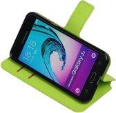 Groen Samsung Galaxy J3 TPU wallet case booktype hoesje HM Book