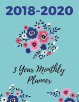 2018-2020 Three Year Monthly Planner