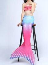 Zeemeerminstaart met bikini Pink&Blue maat 150   Zonder Monovin   Besteld vóór 15u? Woon je in Nederland? Dan levering volgende werkdag!