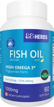 Visolie ★ 88Herbs ★ 60 capsules ★ superieure visolie met Omega 3,  EPA en DHA ★ Supplement