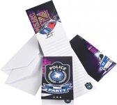 Politie feest uitnodigingen 8 stuks