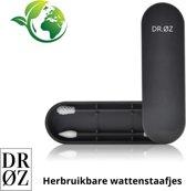 Duurzame Herbruikbare Wattenstaafjes ECOLOGISCH - 2 stuks - Zwart - Oorstokjes - Herbruikbaar Wattenstaafjes - Reiniging Makeup