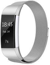 KELERINO. Milanees bandje voor Fitbit Charge 2 Zilver - Small