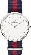 Daniel Wellington Classic Oxford - Horloge -Blauw/Rood - 40 mm