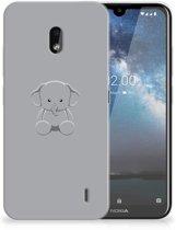 Nokia 2.2 Telefoonhoesje met Naam Grijs Baby Olifant