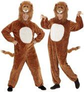 Leeuw & Tijger & Luipaard & Panter Kostuum   Dieren Onesie Pluche Leeuw Kostuum   Medium   Carnaval kostuum   Verkleedkleding
