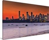 Panorama van Bombay Canvas 80x40 cm - Foto print op Canvas schilderij (Wanddecoratie woonkamer / slaapkamer)