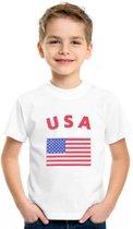 Kinder t-shirt vlag USA S (122-128)