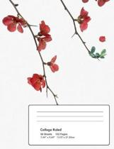 Flowering Red Quince Gone Wild Composition Notebook