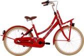 Bike Fun Love & Peace - Kinderfiets - Meisjes - Rood - 43 cm