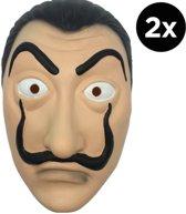 La Casa de Papel masker - 2 stuks - Dali masker - Dali masker verkleedpartij