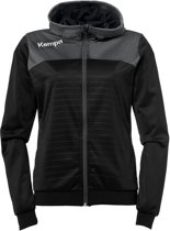 Kempa Emotion 2.0 Hooded  Sportjas - Maat M  - Vrouwen - zwart/grijs