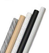 Consumentenrollen cadeaupapier Black & White Plus box 50 stuks