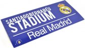 Real Madrid Street Coloured Sign Blue