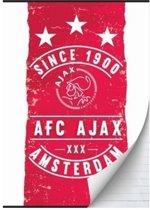 Schrift ajax rood/wit since 1900 A4 gelijnd