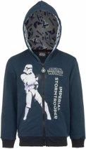 Star Wars sweater met rits donkerblauw 104