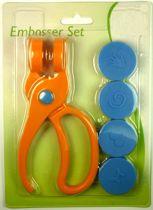 Embosser Set - 15 x 7 x 3cm - Inclusief 4 Designs