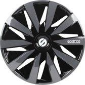 Sparco Wieldoppenset 15 inch - Lazio - Zwart/Grijs