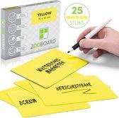 25 Herschrijfbare Magneten Medium Geel - Scrum - Agile - Lean - Whiteboard