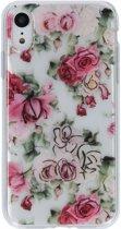 Bloemen metallic design siliconen hoesje hoesje voor de iPhone Xr