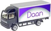 Leuk kado met naam model vrachtwagen- zwart