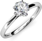 Yolora ring - Swarovski kristal - 17.75 mm - Dames - Silver Heart