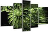 Glasschilderij Abstract | Groen, Zwart | 170x100cm 5Luik | Foto print op Glas |  F000921