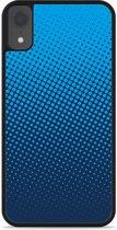 iPhone Xr Hardcase hoesje lichtblauwe cirkels